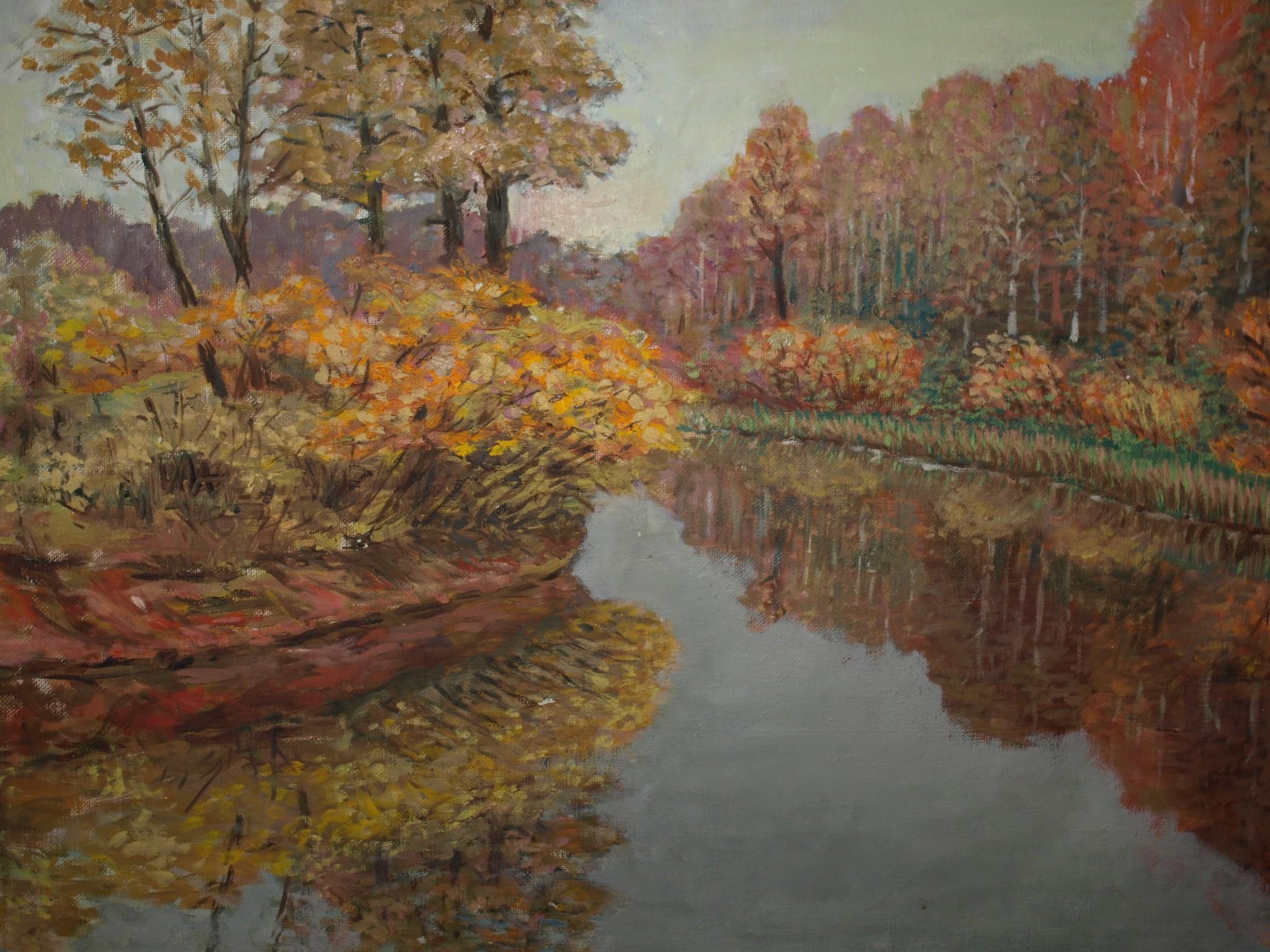 Vienas no E. Mangaļa gleznas reprodukcija